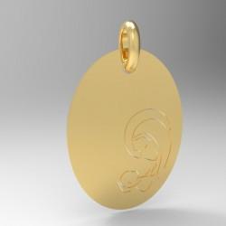 Médaille vierge a l'enfant ovale