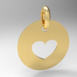 Médaille Silhouette coeur