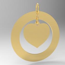 Médaille Coeur suspendu dans cercle