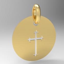Médaille Silhouette croix